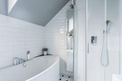 Exclusive white bathroom Royalty Free Stock Photo