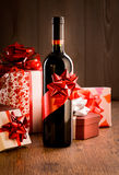 Exclusive wine bottle gift Stock Photo