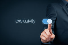 Exclusivity. Switch-on to exclusivity. Businessman and business model concept Stock Photo
