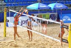 Excursão 2011 do mundo do SWATCH FIVB do voleibol da praia Fotos de Stock