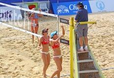 Excursão 2011 do mundo do SWATCH FIVB do voleibol da praia Fotografia de Stock Royalty Free