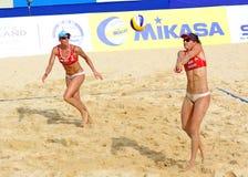 Excursão 2011 do mundo do SWATCH FIVB do voleibol da praia Fotografia de Stock