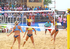Excursão 2011 do mundo do SWATCH FIVB do voleibol da praia Foto de Stock