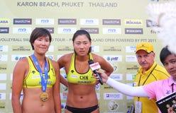 Excursão 2011 do mundo do SWATCH FIVB do voleibol da praia Imagens de Stock Royalty Free