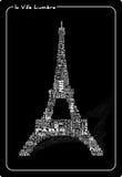 Excursão abstrata Eiffel ilustração royalty free