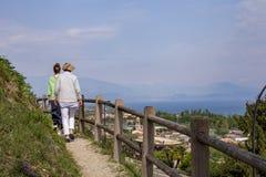 Excursão ao sul Garda de Padenghe fotografia de stock