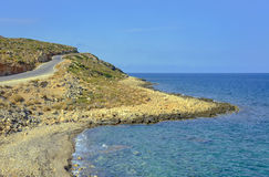 Excursão da bicicleta ao longo da costa de mar Fotografia de Stock Royalty Free