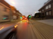 Excursão da bicicleta na manhã Fotos de Stock
