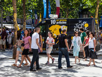 A excursão da loja móvel oficial de France Fotografia de Stock Royalty Free