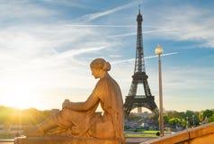 Excursão de Eiffel e de Trocadero, Paris fotos de stock