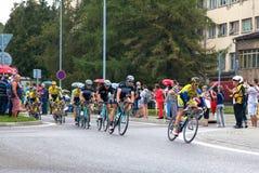 Excursão de Pologne 2014 da raça de ciclismo Fotografia de Stock Royalty Free