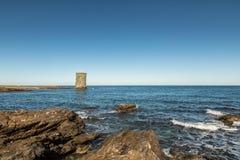 Excursão de Santa Maria della Chiappella em Cap Corse em Córsega Fotografia de Stock Royalty Free
