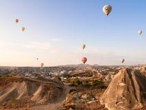 Excursão do balão em Goreme Fotografia de Stock Royalty Free