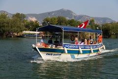 Excursão do barco em Dalyan Imagens de Stock Royalty Free