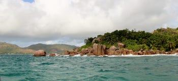 Excursão do beira-mar de Seychelles Imagens de Stock Royalty Free