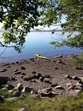 Excursão do caiaque no fiorde fora de Stavanger Fotos de Stock