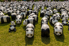 Excursão do mundo de 1600 pandas Fotografia de Stock Royalty Free
