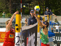 Excursão do mundo do SWATCH FIVB - Praga 2008 aberta Fotos de Stock Royalty Free
