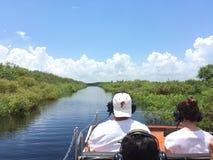 Excursão do passeio do Airboat do rio de StJohn em Florida, EUA fotos de stock