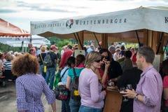 Excursão do vinho em Uhlbach perto de Estugarda, Alemanha Foto de Stock Royalty Free