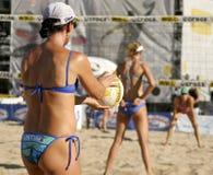 Excursão do voleibol de Fontana AVP Crocs Foto de Stock