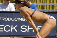 Excursão do voleibol de McPeak AVP Crocs fotos de stock