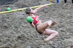 Excursão europeia do handball da praia - finais Tessalónica 2016 do ebt Imagens de Stock Royalty Free