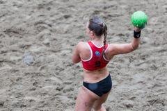 Excursão europeia do handball da praia - finais Tessalónica 2016 do ebt Imagem de Stock Royalty Free