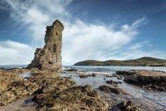Excursão Genoese de Santa Maria em Cap Corse em Córsega Fotografia de Stock