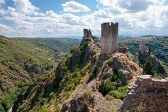 Excursão Regine Surdespine do La e torres e vale de Quertinheux em L Foto de Stock