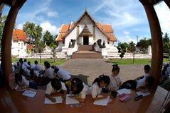 Excursões do estudante no templo. Foto de Stock