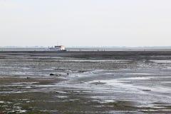 Excursión del barco sobre Waddensea, Holanda Fotos de archivo libres de regalías