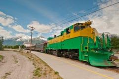 Excursión del tren al paso blanco Fotografía de archivo