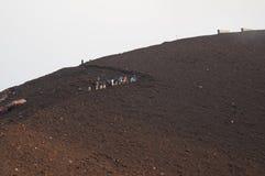 Excursión en stromboli. Foto de archivo libre de regalías