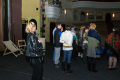 Excursie in Dramatheater in Kirov-stad Stock Foto