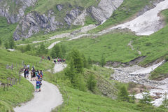 Excursie voor studenten, Koednitz-Vallei, Oostenrijk Royalty-vrije Stock Afbeeldingen