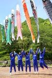 Excursión del altas colegialas japonesas Imágenes de archivo libres de regalías