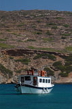 Excursion boat. Passenger excursion boat in the sea greek islands Stock Photo