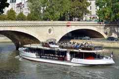 Excursion boat on the Seine Stock Image
