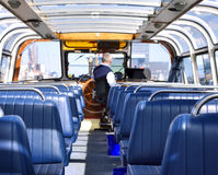 Excursion boat for sightseeing in Amsterdam Royalty Free Stock Photos