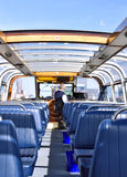 Excursion boat for sightseeing in Amsterdam Stock Photos