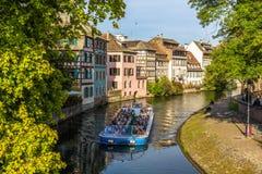 Excursion boat in Strasbourg - France Stock Image
