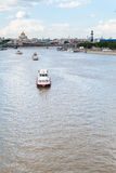 Excursion boats in Moskva River, Moscow city Royalty Free Stock Images