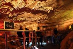 Excursion on cave Sataplia Stock Photography