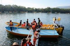 Excursion de bateau de gorge de Sumidero Photos libres de droits
