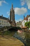 Excursion de canal de Bruges Image stock
