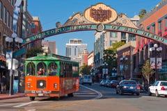 Excursion de chariot dans le district de Gaslamp à San Diego Photos stock