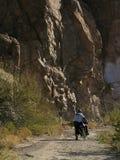 Excursion de cycle près de supérieur Photographie stock libre de droits