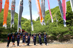 Excursion des filles japonaises d'un lycée Photos stock