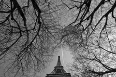Excursion Eiffel avec l'avion Photo stock